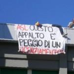 Continua la lotta degli addetti alle pulizie dell'ASL Caserta