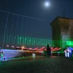 Un'arpa di luce a Casertavecchia: e nel borgo riappare Siffridina