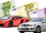 Auto di lusso per imprenditori casertani che evadono il fisco