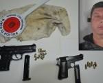 In manette per detenzione illegale di armi ed ordigni esplosivi