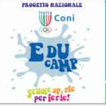 """""""EDUCAMP CONI"""" a Caserta: sport, amicizia e fantasia per 1200 ragazzi"""