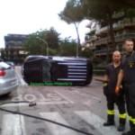 Pauroso incidente in via Botticelli a Caserta, per fortuna senza gravi conseguenze
